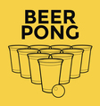 Beer pong drinking game vector