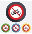No bicycle sign icon eco delivery vector