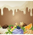White chocolate sweets background vector