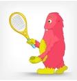 Funny monster tennis vector