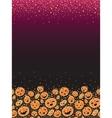 Halloween pumpkins vertical decor background vector
