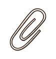 Paper clip symbol vector