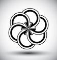 Five arrows loop conceptual icon special abstract vector