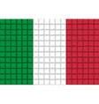 The mosaic flag of italy vector