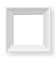 Realistic white frame vector