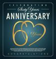 60 years anniversary background vector