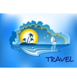 Tropical beach landscape vector