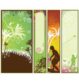Set of vintage styled summer banners vector