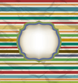Retro stripe pattern colorful vintage background vector