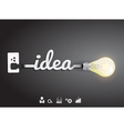 Creative light bulb idea inspiration concept vector