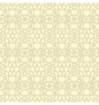 Beige floral wallpaper vector