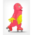 Funny monster roller vector