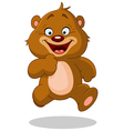 Running teddy bear vector