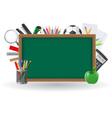 Set icons school supplies 01 vector