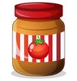 A jar of tomato jam vector