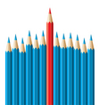 Pencils leadership concept vector