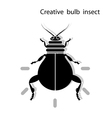 Creative light bulb insect vector