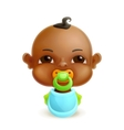 African baby icon vector