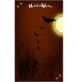 Dark forest in a full moon night background vector