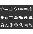 White web internet icons set vector