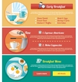 Breakfast time concept icons vector