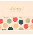 Vintage background with polka dots pattern vector