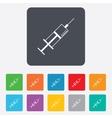 Syringe sign icon medicine symbol vector