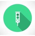 Green traffic lights icon vector
