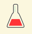 Science symbol - flat design test tube vector
