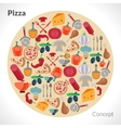 Pizza circle concept vector