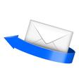 Envelope with blue arrow vector