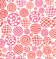 Warm seamless pattern polka dot fabric backgroud vector