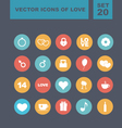 Valentines day heart icons 5 vector