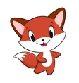 Cartoon baby fox vector