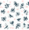 Songbirds seamless vector