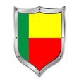 Benin flag button vector