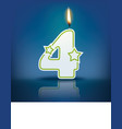 Candle number 4 with flame vector