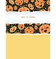 Halloween pumpkins vertical torn frame decor vector