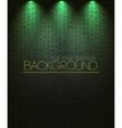 Spotlight background green vector