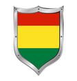 Bolivia flag button vector