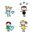 Doodle kids vector