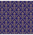 Seamless damask wallpaper 2 blue color vector