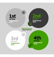 Infographic web banner design template vector
