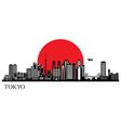 Tokyo city silhouette skyline vector