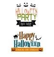 Halloween party banners vector