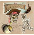 Pirates - golden age hand drawn and mixed media vector