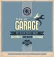 Auto service retro poster design vector