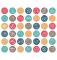 Social media icons setround buttondoodle sketchy vector
