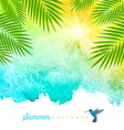 Tropical summer watercolor background vector