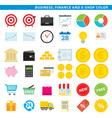 Business finance e shop color vector